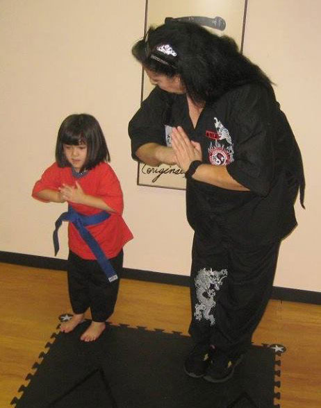 Sifu Rita Rose Pasquale with a student